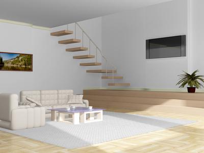 Schodiště v obývacím pokoji